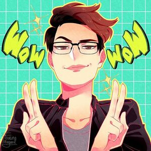 Thank you so much to @floating_megane for this amazing piece that makes me look way cooler than I actually am. Art skills for days in this young one! <3