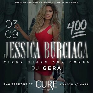 Boston I'll be at CURE LOUNGE tomorrow night!! Tag a friend to win a chance to party with me in my VIP section for free! @CureLounge or contact @Rizzboston to book your own VIP section next to me or guest list 617-201-0697 #235Ent #FridayNight #The4Hundred #6one7  See you there! 😘😘